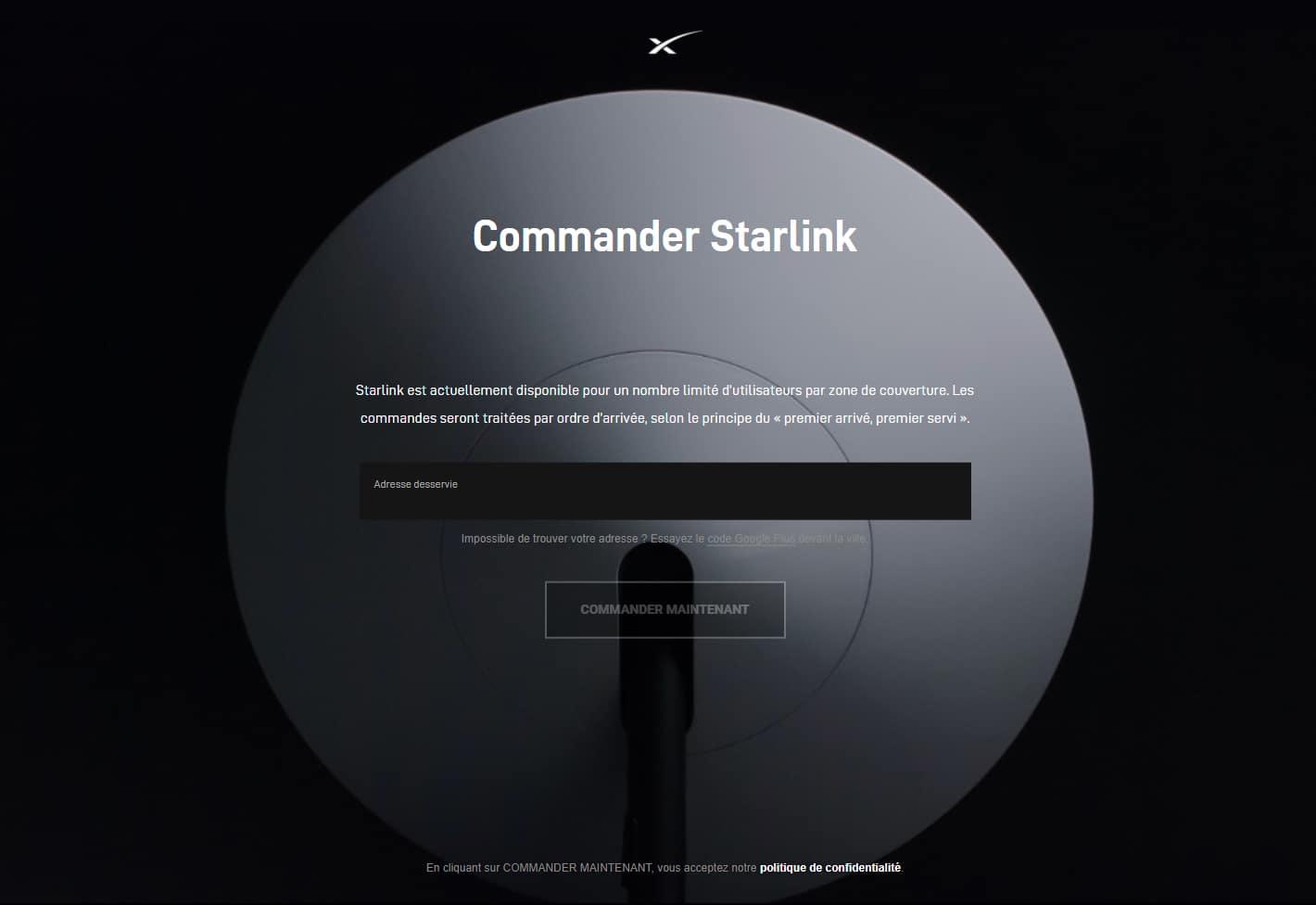 commander internet starlink