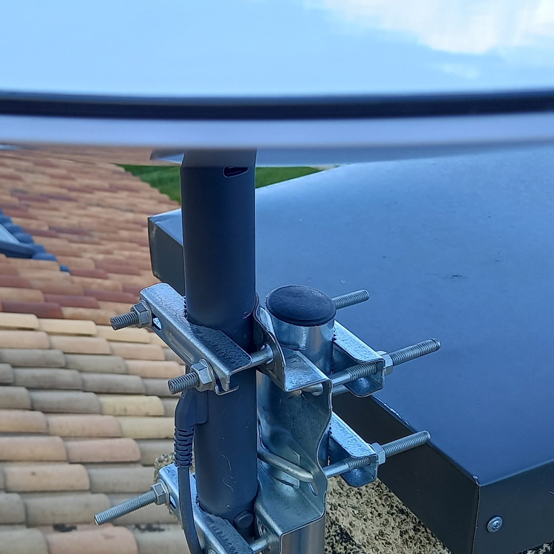 adaptateur cheminée pour parabole starlink